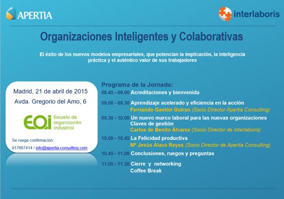 Invitación Jornada Organizaciones Inteligentes y Colaborativas